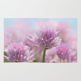 Allium pink macro 303 Rug