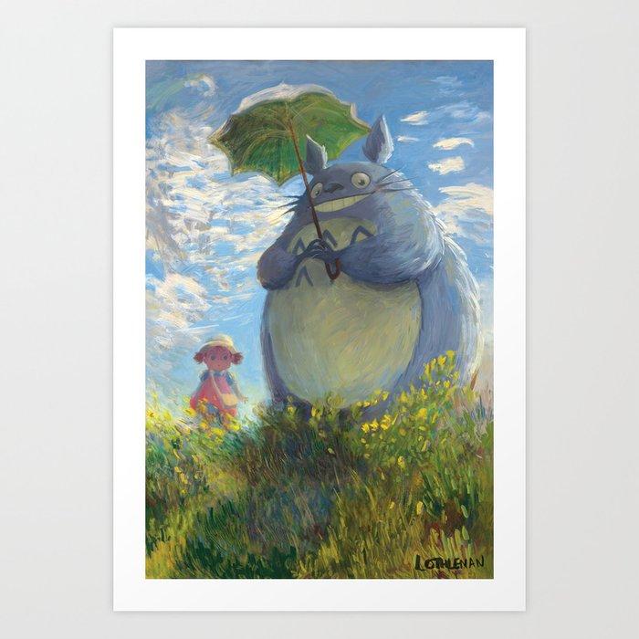 With a Parasol Kunstdrucke