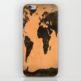 Grungy Abstract World Map iPhone Skin