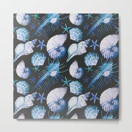 Sea Life Pattern 06 Metal Print