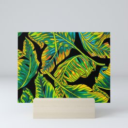 Banana Leaf Belize on Silk Mini Art Print