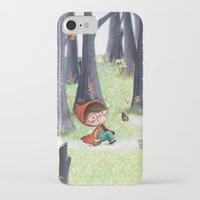 red riding hood iPhone & iPod Cases featuring Red Riding Hood by Antoana Oreski Illustration