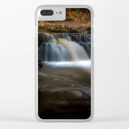 Afon Pyrddin waterfall Pontneddfechan Clear iPhone Case