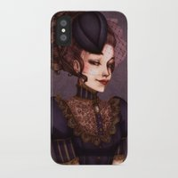 the vampire diaries iPhone & iPod Cases featuring Vampire by Christine Alcouffe