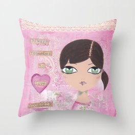 Always remember to love yourself Throw Pillow