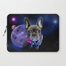 Dog French Bulldog and Galaxy Laptop Sleeve