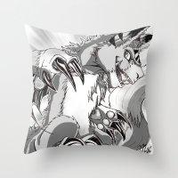 digimon Throw Pillows featuring + Digimon - Dorumon + by Xyeziaeos