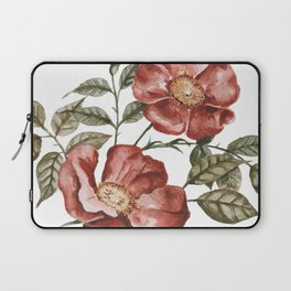 Red Floral Painting Laptop Sleeve