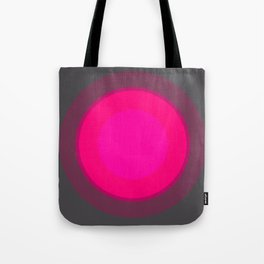 Hot Pink & Gray Focal Point Tote Bag