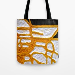 Gold Flow Abstract tetkaART Tote Bag