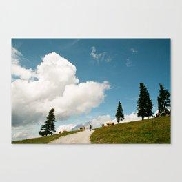 Hiking at the Annaberg, Austrian Alps Canvas Print