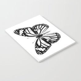 Monarch Butterfly | Vintage Butterfly | Black and White | Notebook