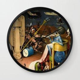The Garden of Earthly Delights Bosch Hell Bird Man Wall Clock