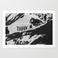 Think. Art Print