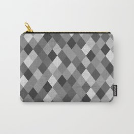 Black and White Harlequin Carry-All Pouch