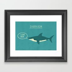 Sharkasm Framed Art Print