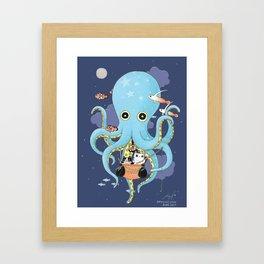 The Fishing Night Framed Art Print