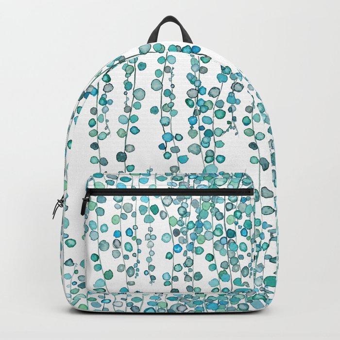 string of pearl watercolor Backpack
