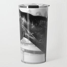 Black & White Stallion Travel Mug