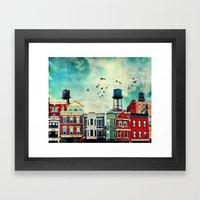 A Noble Avenue Framed Art Print