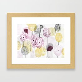 Petals and flowers Framed Art Print