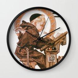 Joseph Christian Leyendecker - St. Valentine's Day - Digital Remastered Edition Wall Clock