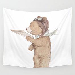 Aviator Bear Wall Tapestry