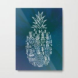 Pineapple Fields Forever Metal Print