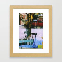 STORE-FRONT REFLECTION Framed Art Print