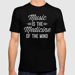 Music Medicine Mind Quote T-shirt