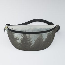 Forest Fog Mountain IV - Wanderlust Nature Photography Fanny Pack
