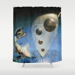 Birth in the Space Shower Curtain