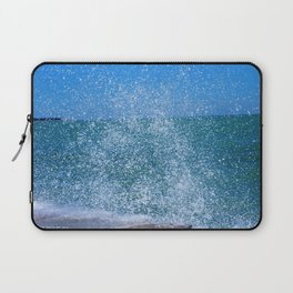 Lake Michigan Natural Fountains #2 (Chicago Waves Collection) Laptop Sleeve