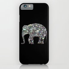 Sparkly colourful silver mosaic Elephant Slim Case iPhone 6
