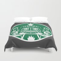 star lord Duvet Covers featuring Star Lord Coffee by LavaLamp Creative