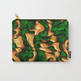 Tangled Silk, green Carry-All Pouch