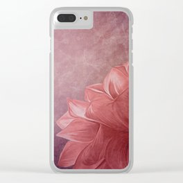 Drawing flower on old vintage color grunge paper background Clear iPhone Case