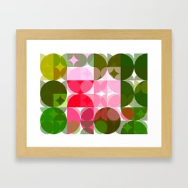 Pink Roses in Anzures 4 Abstract Circles 3 Framed Art Print