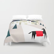 The horse and his castle Duvet Cover