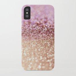 Mermaid Rose Gold Blush Glitter iPhone Case