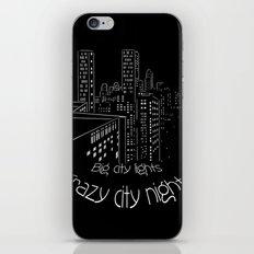 City nights, city lights iPhone & iPod Skin