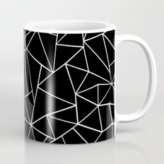 Abstraction Outline Black and White Mug