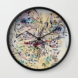Face in lines Wall Clock