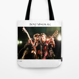 Birds in the Boneyard, Print One: Petey and Mikey on the Mic Tote Bag