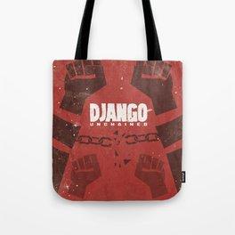 Django Unchained, Quentin Tarantino, minimalist movie poster, Leonardo DiCaprio, spaghetti western Tote Bag