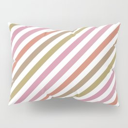 Pink Roses in Anzures 2 Stripes 1B Pillow Sham