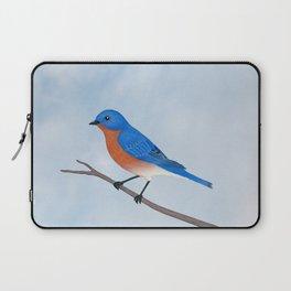 male eastern bluebird portrait Laptop Sleeve