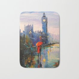 Rain in London Bath Mat