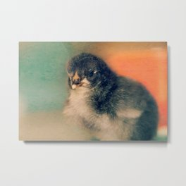 Chick and Pastels Metal Print