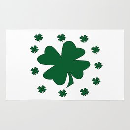 St. Patrick's Day Lucky Clovers Rug